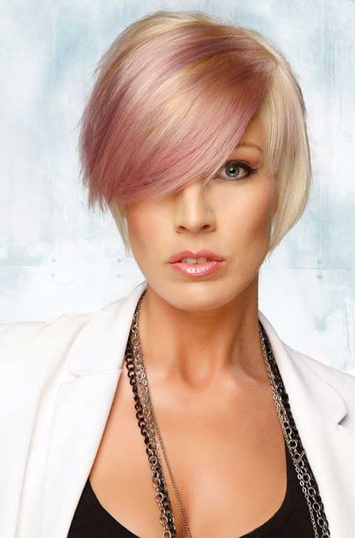 Nice-Blonde-and-Pink-Bob-Hairstyle Short Blonde And Pink Hairstyles