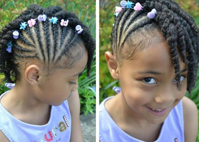 One-Sided-Wonder Cutest Braided Hairstyles for Little Girls Right Now