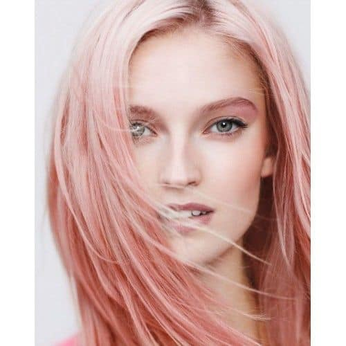 Peach-Hair-Ombre Enthralling Long and Straight Hair Ombre for Women