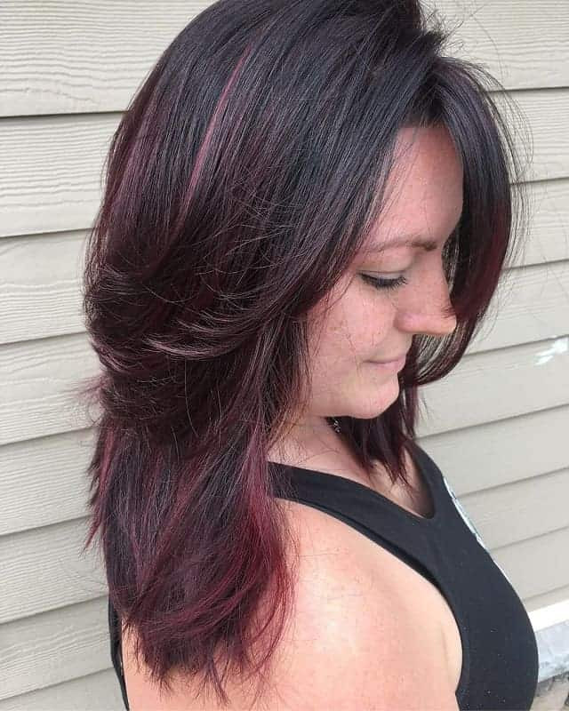 Pink-Highlights-Added-Throughout Gorgeous Black Hairstyles with Highlights