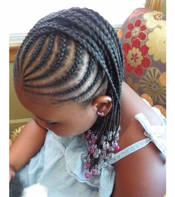 Pink-and-Silver-Beads Cutest Braided Hairstyles for Little Girls Right Now