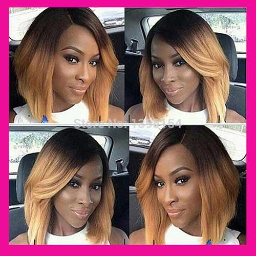 Popular-Short-Black-Bob-Hairstyle Nice Short Bobs for Black Women