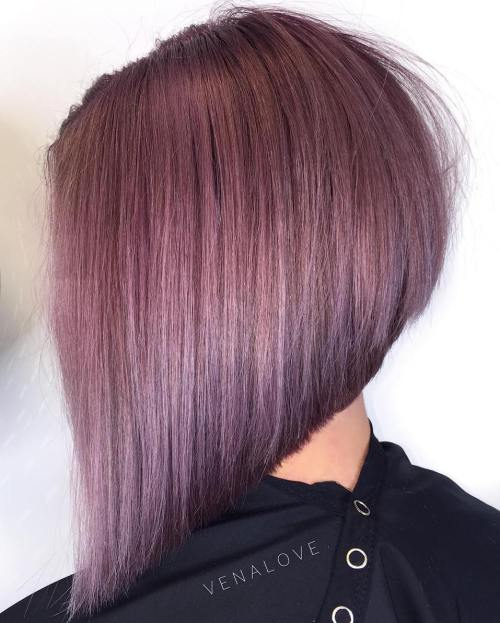 Purple-Pink-Asymmetrical-Bob 13 On-trend Bobs and their variations in 2020