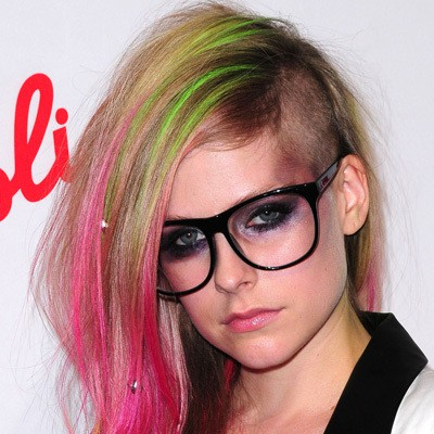 Rainbow-Warrior Brilliant Half Shaved Head Hairstyles for Young Girls