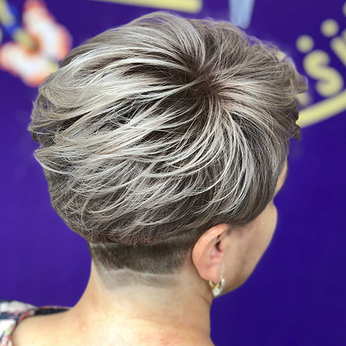 Short-Back-View-Hair Ideas for An Amazing Textured Pixie Cut