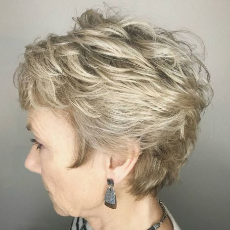 Short-Feathered-Pixie-for-Fine-Hair Hairstyles for Women Over 60