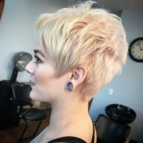 Short-Fluffy-Blonde-Cut 14 Flattering Pixie Cuts That Will Inspire your next cut