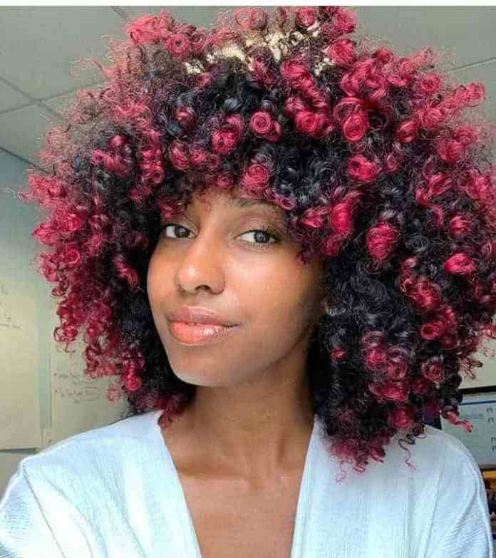 Short-Red-Curls Gorgeous Black Hairstyles with Highlights