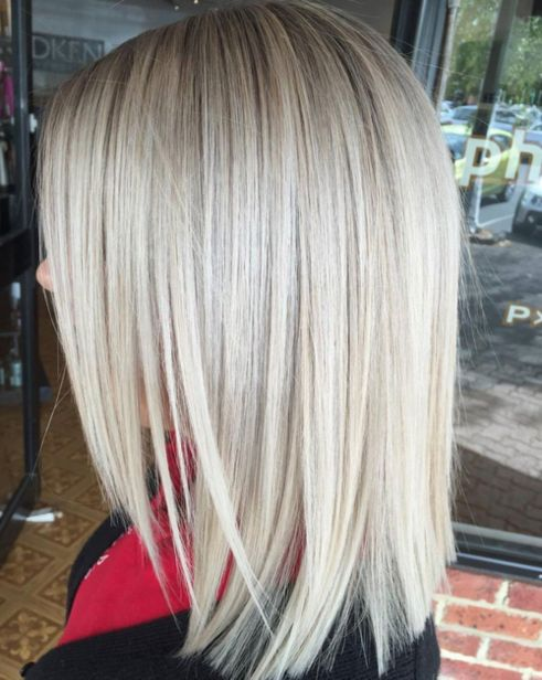 Shoulder-Length-Lob-with-Layered-Front-1 14 Sensational Medium Length Haircuts for Thick Hair