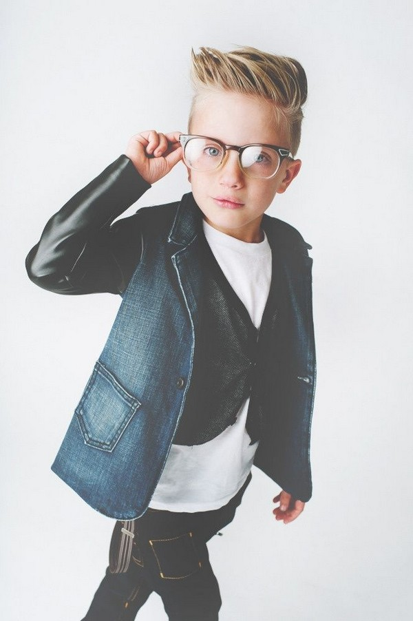Side-Swept-Spikes Cute Haircuts for Boys for Charming Look