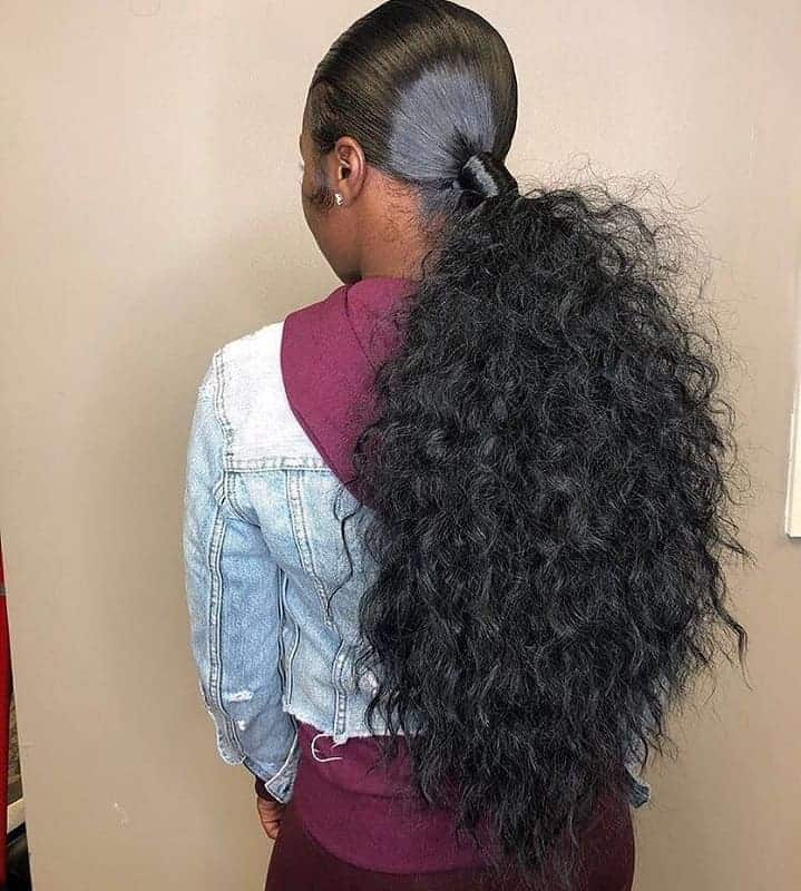 Simple-Yet-Edgy Stunning Ponytail Hairstyles for Black Women