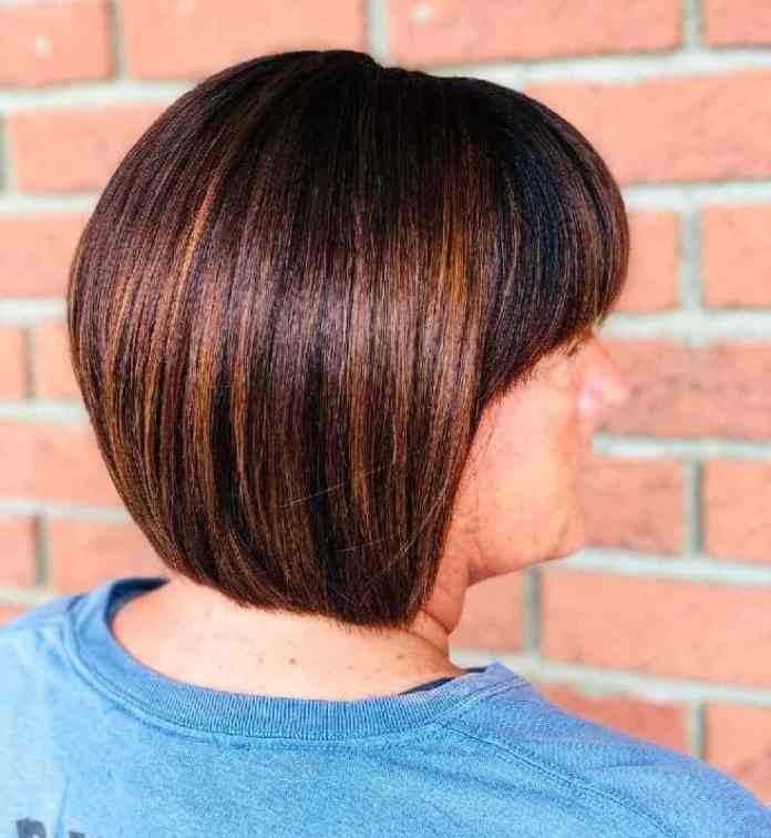 Soft-Bob-with-Copper-Highlights Gorgeous Black Hairstyles with Highlights