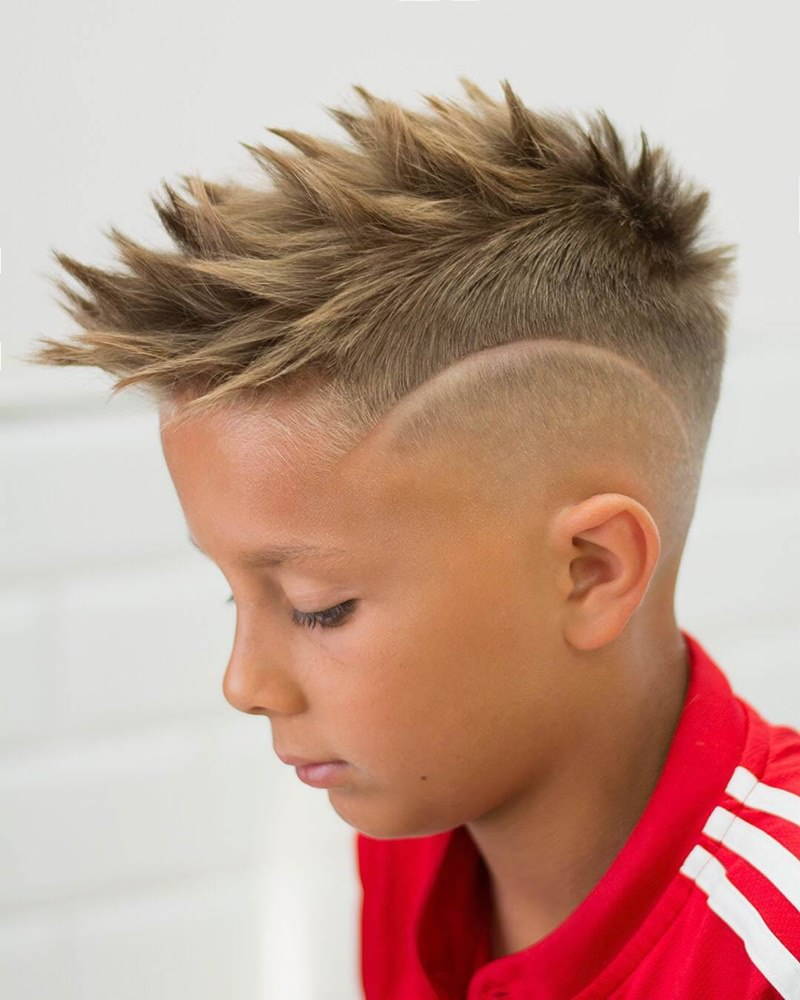 Spikes-with-Short-Sides Cute Haircuts for Boys for Charming Look