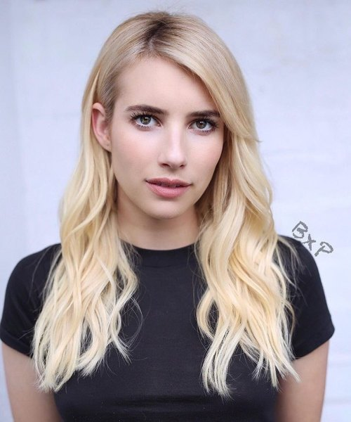Straight-Roots-and-Wavy-Lengths 12 On-trend Hairstyles for Oval Faces You'll be dying to try!