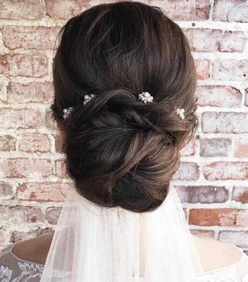 Straightforward-and-Simple-Wedding-Bun 14 Gorgeous Wedding Hairstyles for Long Hair