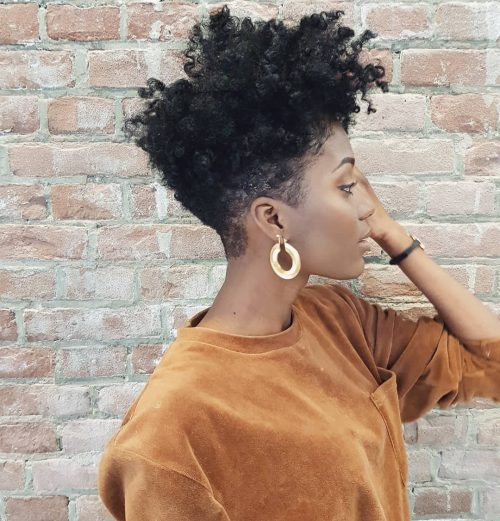 Tapered-cut-curls 10 trendy short hairstyles for blackwomen