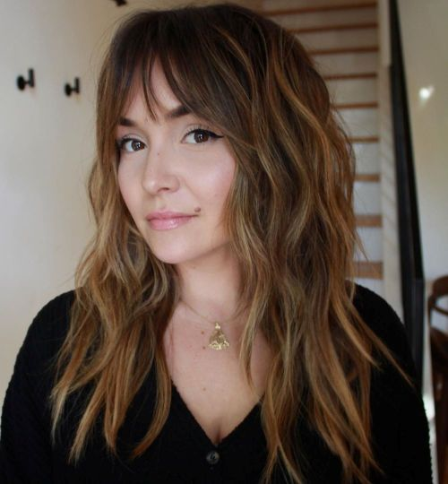 Thin-See-Through-Fringe 12 On-trend Hairstyles for Oval Faces You'll be dying to try!