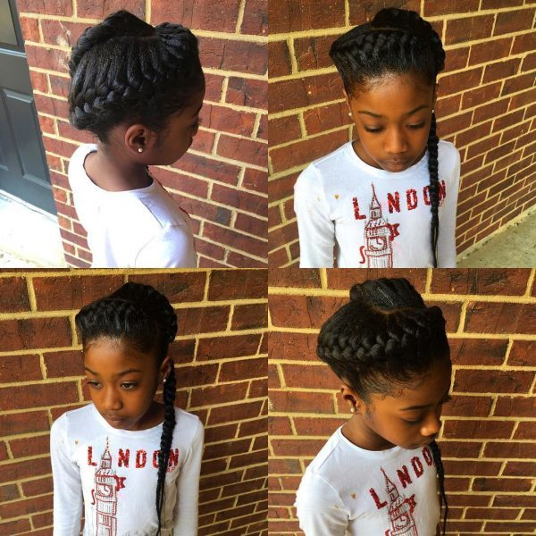 Twisted-Crown Cutest Braided Hairstyles for Little Girls Right Now