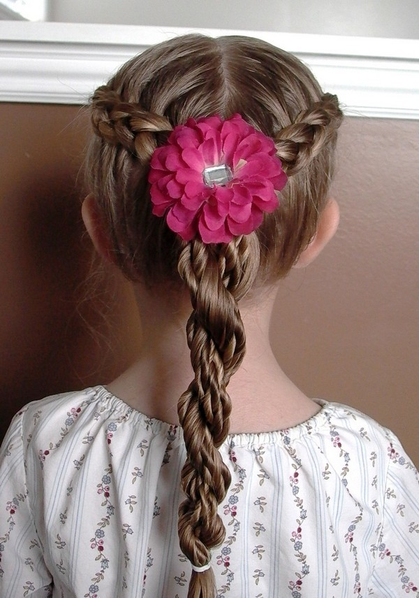Twisted-Ponytail Cutest Braided Hairstyles for Little Girls Right Now