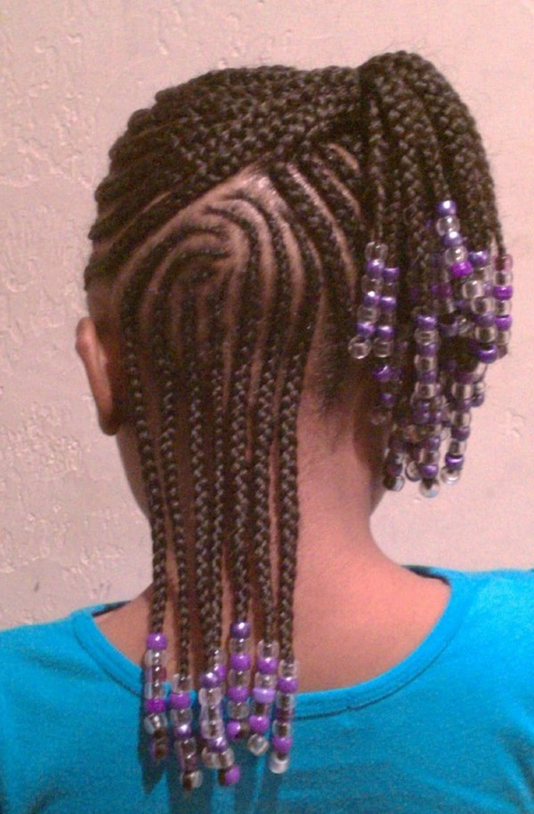 Up-and-Down-Braided-Hairstyle Cutest Braided Hairstyles for Little Girls Right Now