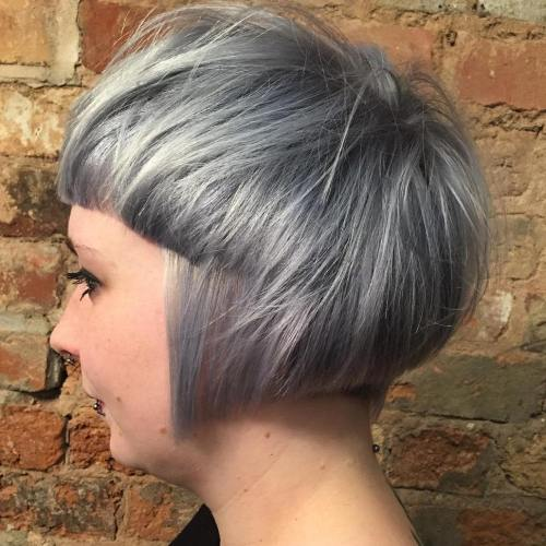 15-gray-bowl-bob-haircut 14 Ways to wear a Bowl Cut