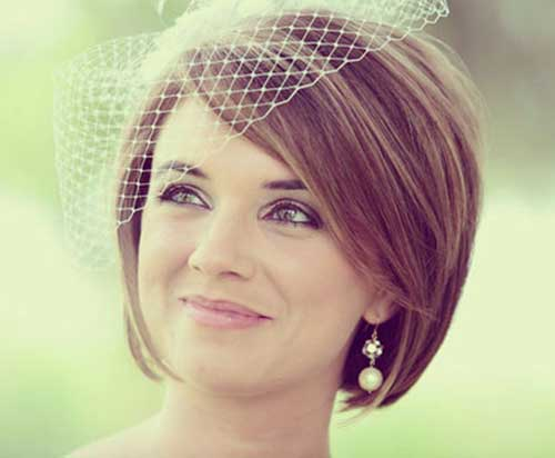 Best-Cute-Wedding-Hair-for-Short-Bob 15 Elegant Wedding Hairstyles for Bob Haircut