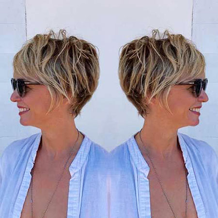Blonde-Highlights 19 Great Pixie Haircuts for Older Women