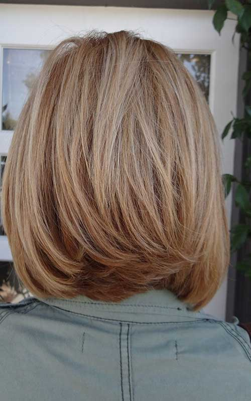 Blondie-Mid-Lenght-Haircut-Back-View Best Ways to Sport Bob Hairstyles with Thick Hair