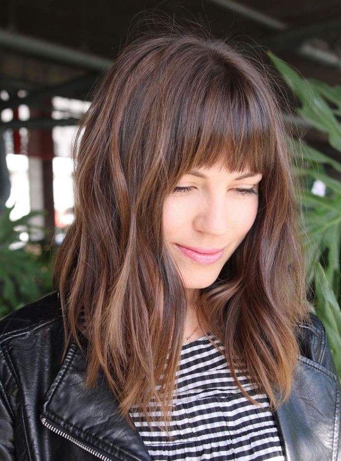 Blunt-Lob-with-Layers Lob Haircuts 2020 for Ultra Glamorous Looks