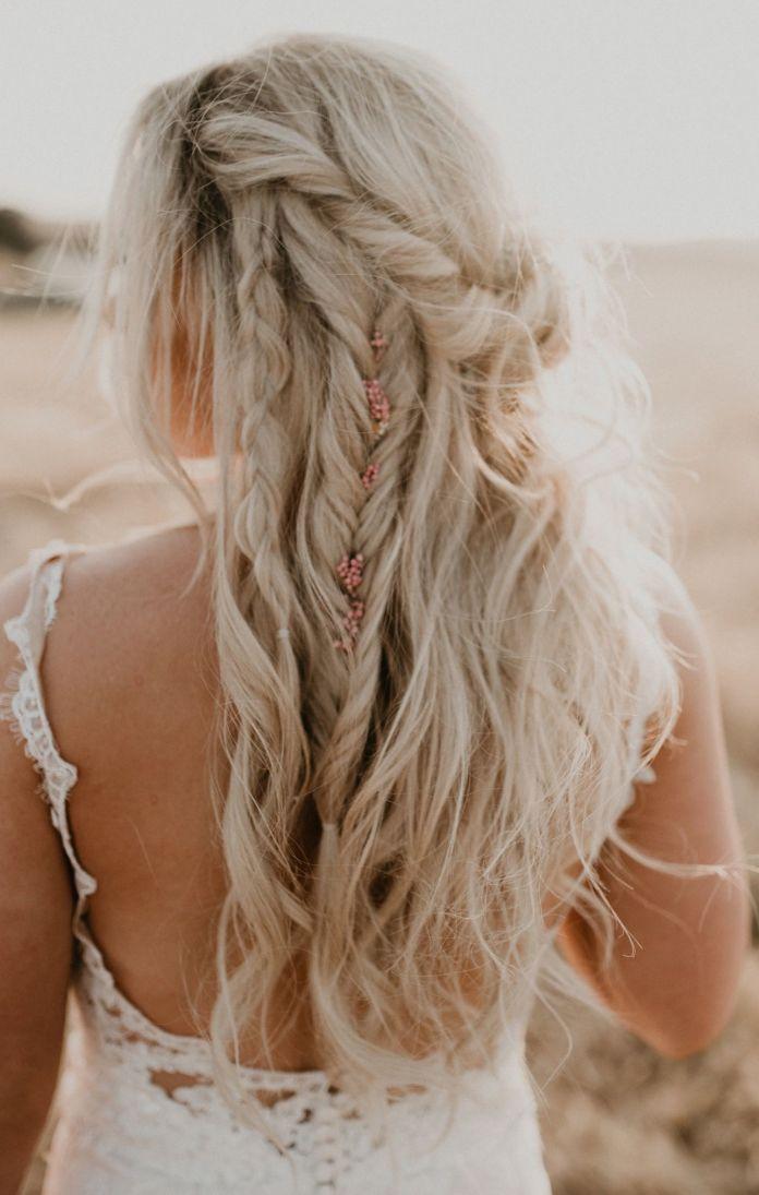 Boho-Braid-Hairstyle Ultra Modern Wedding Hairstyles 2020