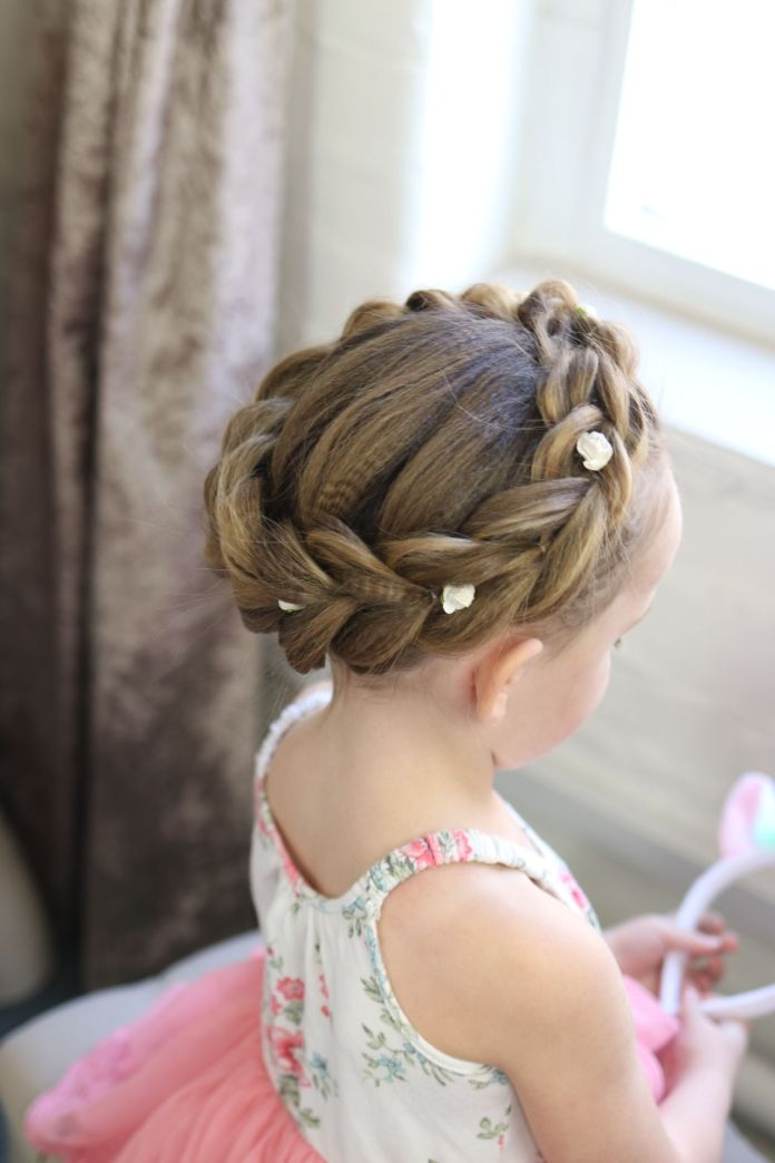 Braided-Crown-Hairstyle Most Cutest Flower Girl Hairstyles