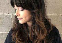 Brunette-Shag-with-Swoopy-Bangs Home