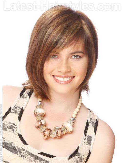 Chic-Asymmetrical-Medium-Haircut-with-Highlights 20 Asymmetrical Bob with Bangs 2020