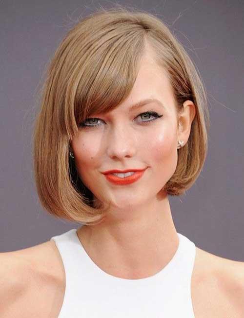 Classy-Asymmetrical-Bob-Haircut-with-Side-Bangs Asymmetric Bob Hairstyles 2020