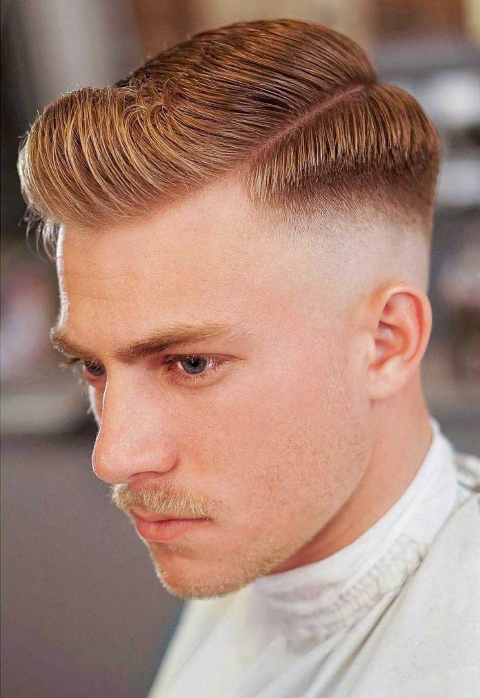 Classy-Side-Parted-Fade-Cut Most Trendy Looks of Short Fade Haircuts