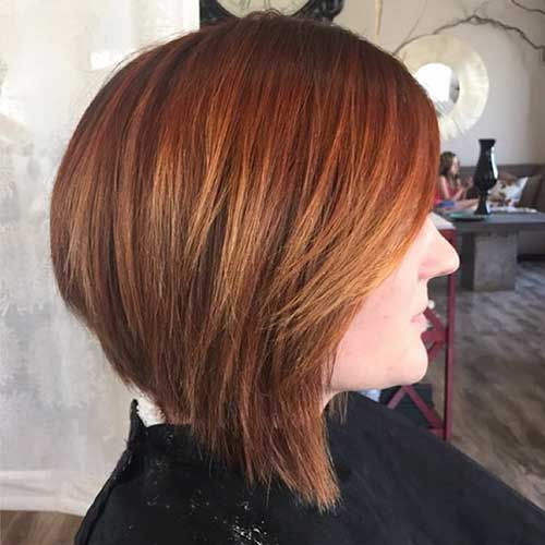 Copper-Inverted-Bob Super Short Haircuts for Women