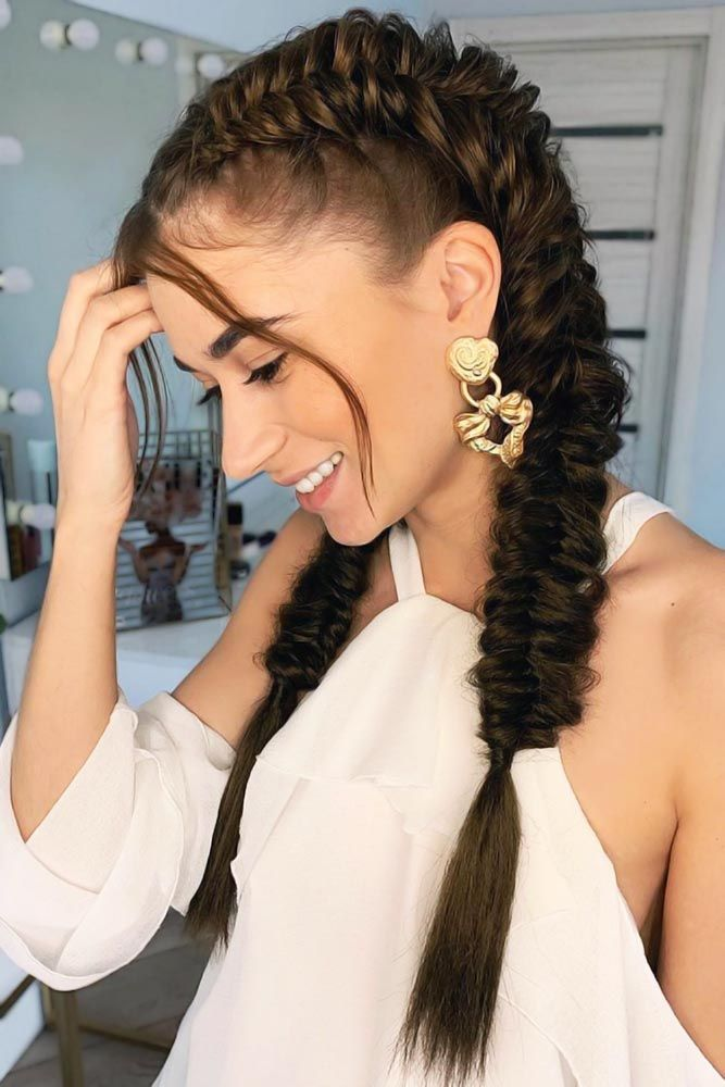 Double-Fishtail-Braided-Hair Braids Hairstyles 2020 for Ultra Stylish Looks