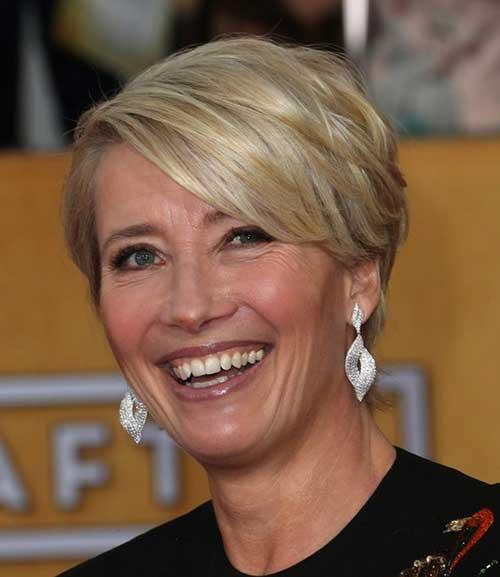 Emma-Thompson Most Beloved Short Hair Styles for Older Women