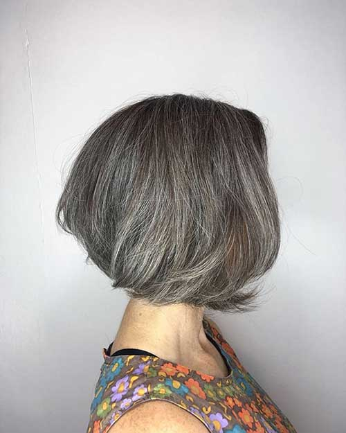 Grey-Short-Bob Super Short Haircuts for Women