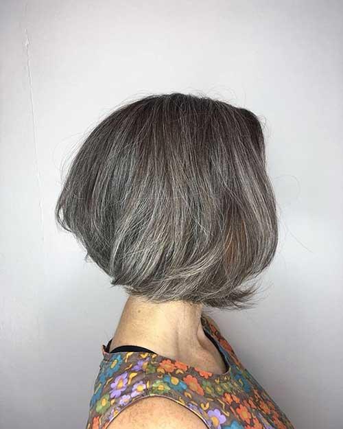 Grey-Short-Bob Super Short Haircuts for Women