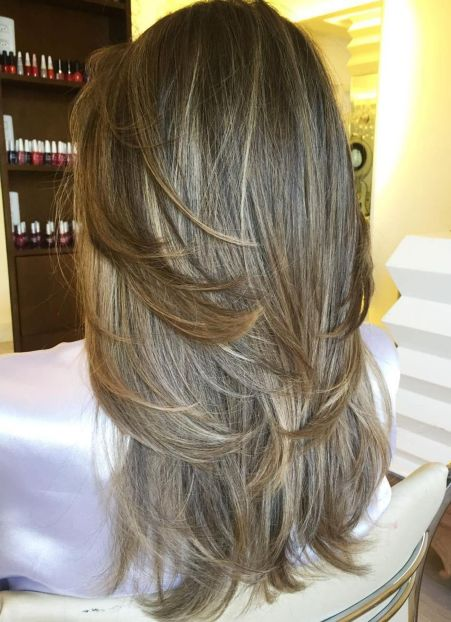 Heavily-Layered-Face-Framing-Strands 15 Trendy Long Haircuts For Women In 2020