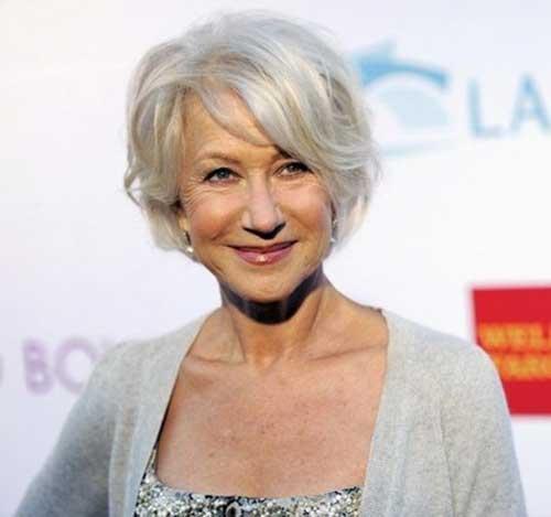 Helen-Mirren-Hair Most Beloved Short Hair Styles for Older Women