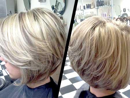 Interesting-Blonde-Mix-Color-Bob 25 Blonde Bob Haircuts
