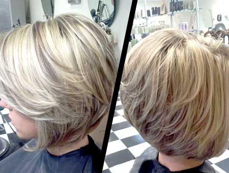 Interesting-Blonde-Mix-Color-Bob 25 Blonde Bob Haircuts
