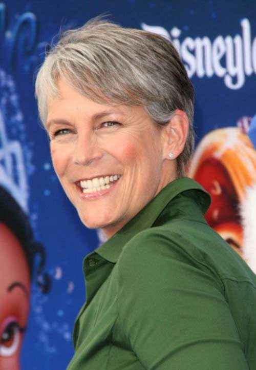 Jamie-Lee-Curtis Amazing Short Haircuts for Older Women