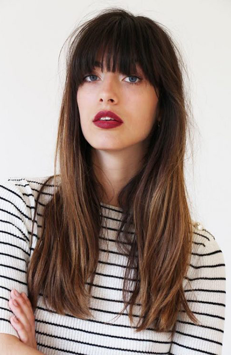 Long-Straight-Hair-with-Bangs 12 Flattering Haircuts for Long Hair with Bangs