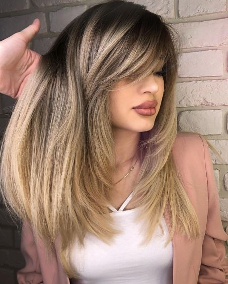 Long-Thick-Cut-with-Face-Framing-Layers 12 Flattering Haircuts for Long Hair with Bangs