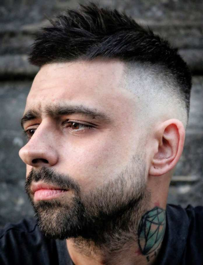 Messy-Spikes-with-Faded-Side Most Trendy Looks of Short Fade Haircuts