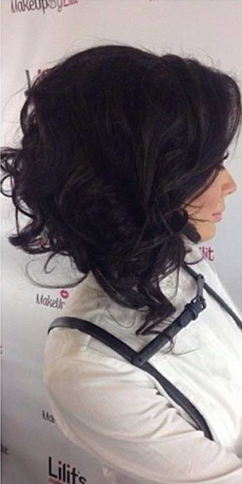 Mid-Lenght-Curly-Aline-Bob Best Ways to Sport Bob Hairstyles with Thick Hair