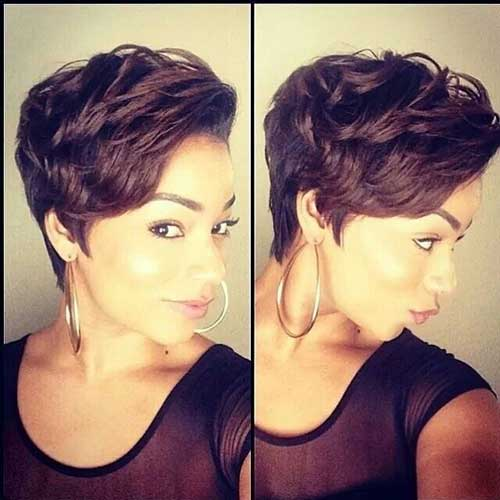 Relaxed-Short-Pixie-Haircut-for-African-American-Women Naturally Short Hairstyles for Beautiful Black Women